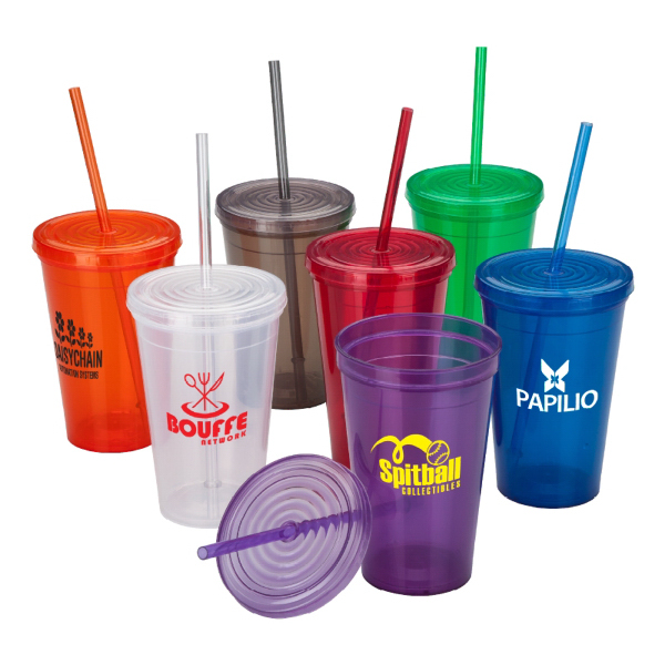 Promotional 16 oz. Tumbler & Straw