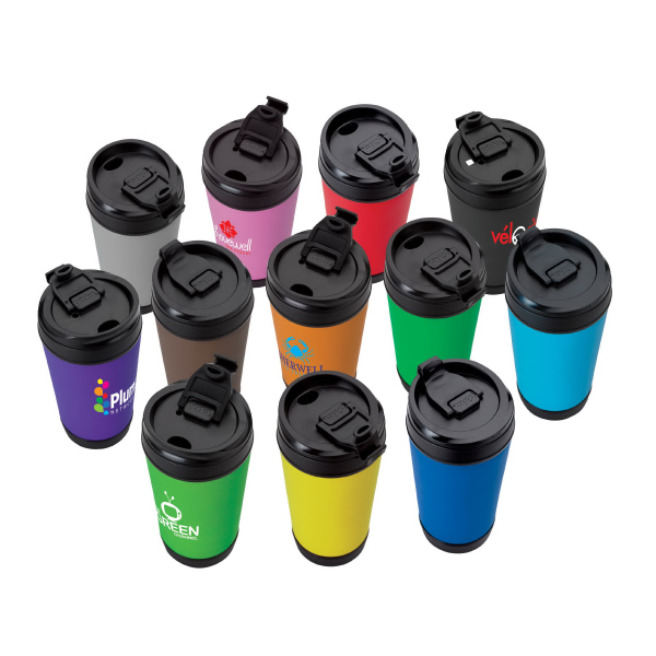 Promotional 17 oz. Insulated Flip-up Lid Mug