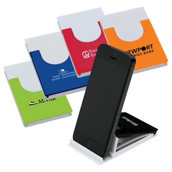 Promotional Phone/Tablet Stand with Microfiber Cloth