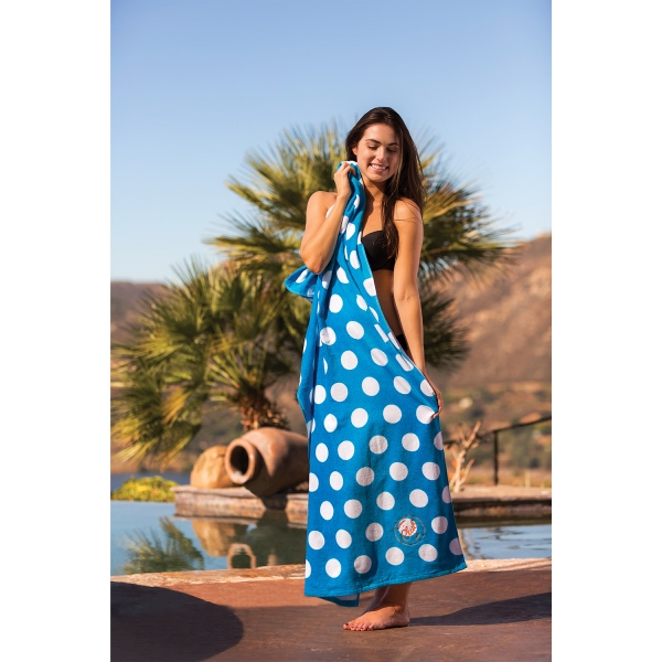 Promotional Polka Dot Fiber Reactive Print Beach Towel