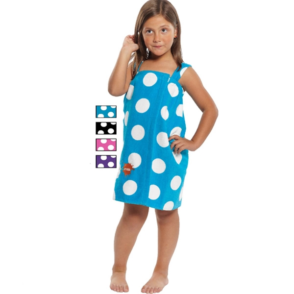Customized Kid's Terry Velour Polka Dot Print Body Wrap