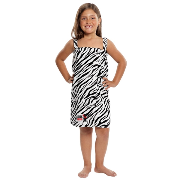 Promotional Kid's Terry Velour Zebra Print Body Wrap