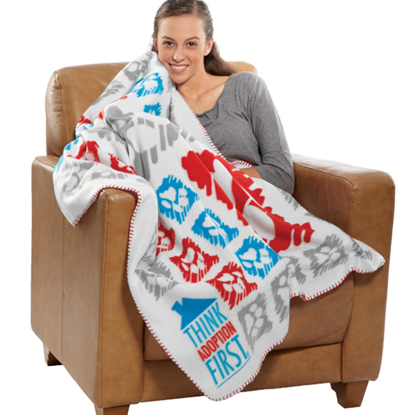 Printed Custom Edge to Edge Printed Anti-Pill Polar Fleece Blanket