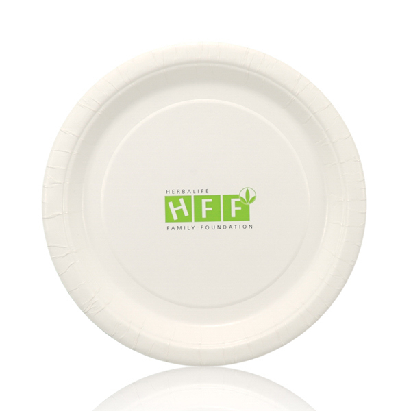 Imprinted Coated Paper Plate
