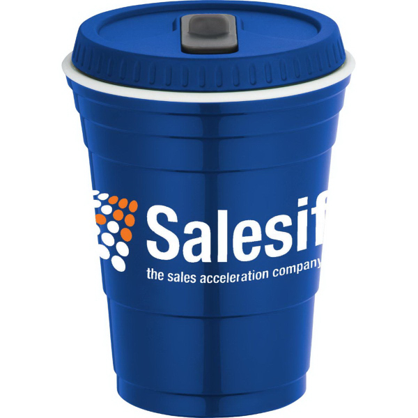 Personalized Game Day Cup with Lid 16 oz