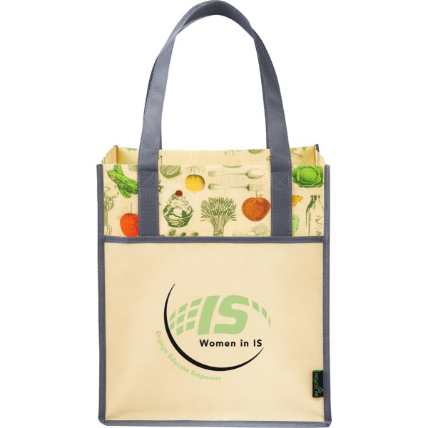 Personalized Matte Laminated Non-Woven Vintage Big Grocery Tote