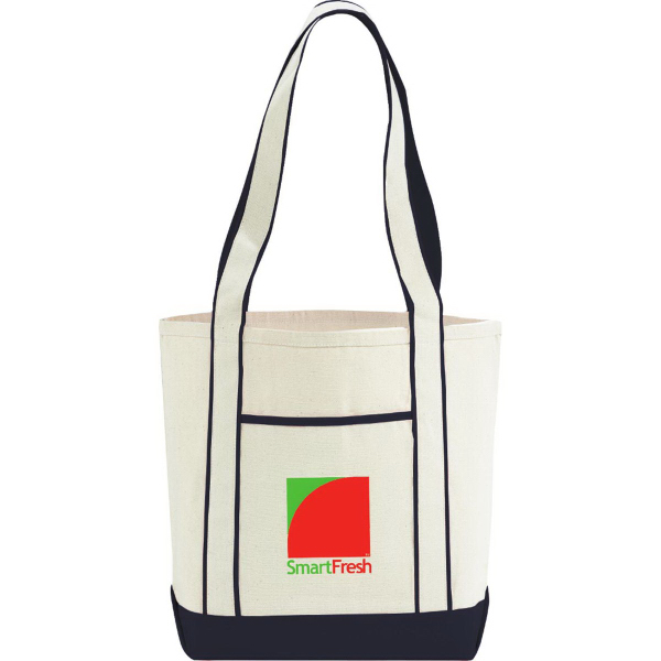 Customized Top Sail Cotton Boat Tote