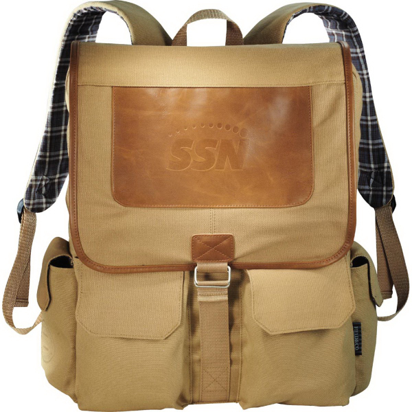 Customized Field & Co. Cambridge Collection Compu-Backpack