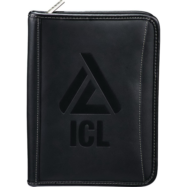 Imprinted Millenium Leather Jr. eTech Padfolio