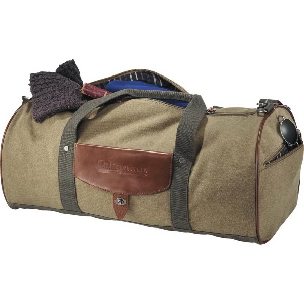 Printed Cutter & Buck (R) Legacy Cotton Roll Duffel Bag