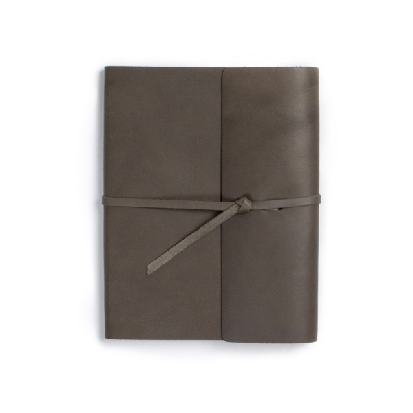 Personalized Writer's log large leather notebook