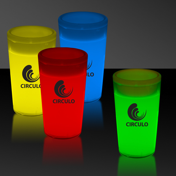 Personalized 2 oz. Tapered Style Light Up Glow Shot Glass