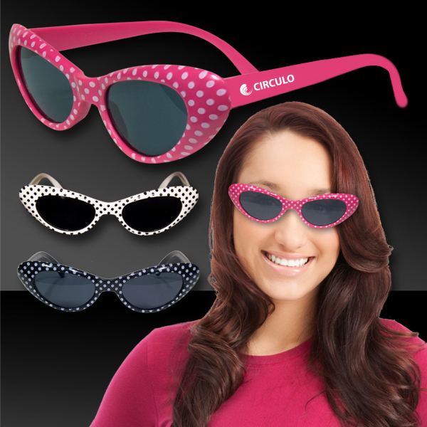Imprinted Polka Dot Funky Costume sunglasses Glasses