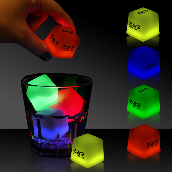 Printed Glow Light Up Ice Cubes Packed in Tray of 24 Pieces