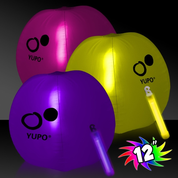 Promotional Translucent Beach Ball with Glow light  Stick