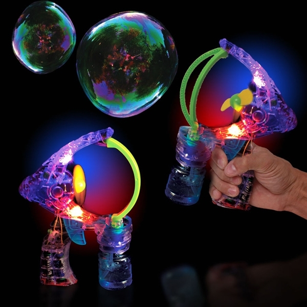 Printed Super Duper LED Light Up Glow Bubble Gun