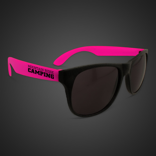 Printed Neon Sunglasses With Pink Arms