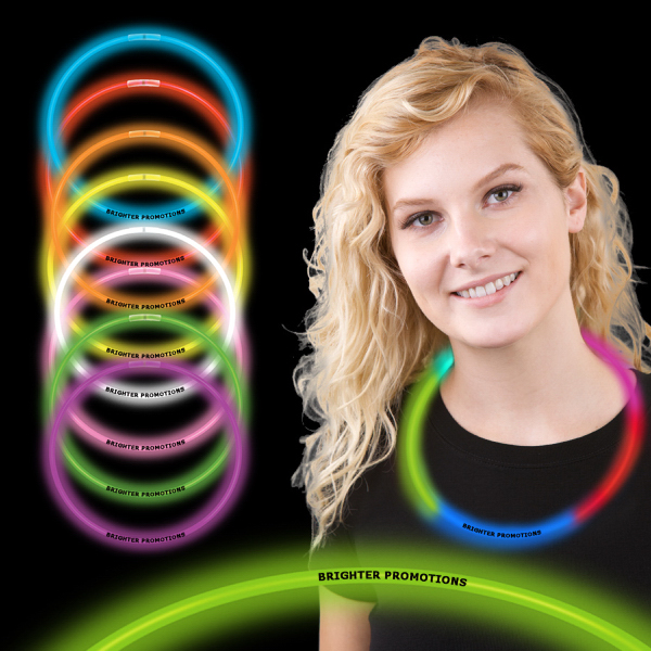 "Promotional 22"" Superior Single Color Light Up Glow Necklace"