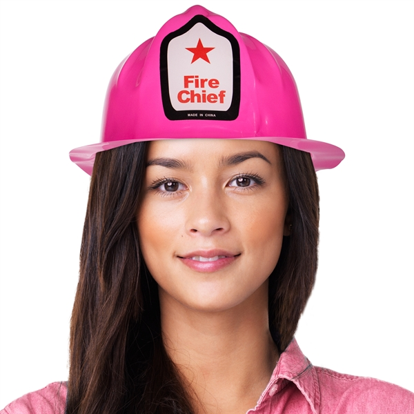 Custom Pink Plastic Novelty Fire-Fighter Hat