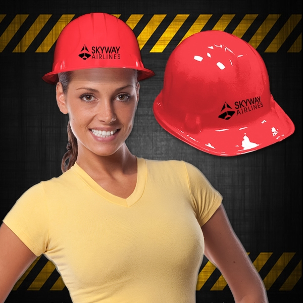 Imprinted Red Construction Hat