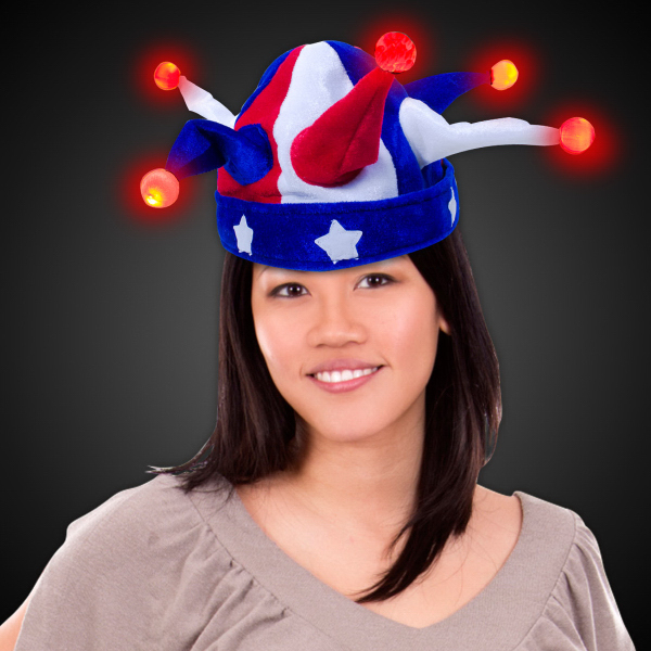 Personalized USA Jester LED Light Up Hat