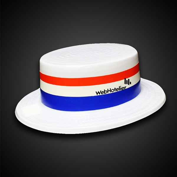 Imprinted Patriotic Skimmer Hat