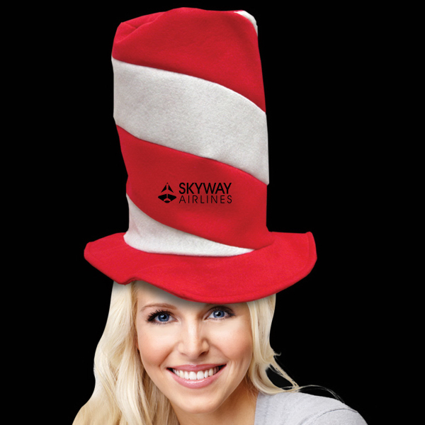 Imprinted Candy Striped Top Novelty Hat