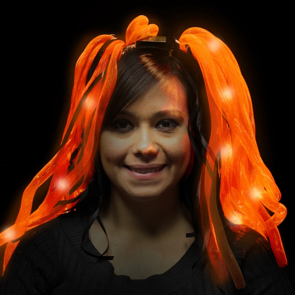 Customized Orange Diva LED Light Up Dreads (TM) LED Headband