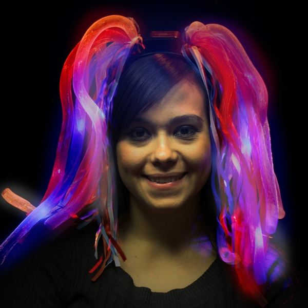 Imprinted Patriotic LED Light Up Costume Diva Dreads (TM) Headband