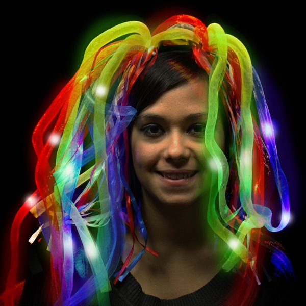 Customized Rainbow LED Light Up Costume Diva Dreads (TM)