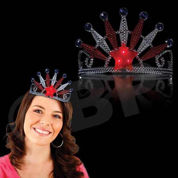Promotional Patriotic Light-Up LED Glow Novelty Tiara