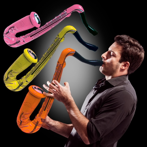 Imprinted Inflatable Saxophone