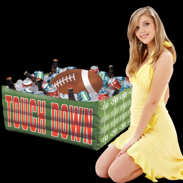 Imprinted Inflatable Football Fan Cooler