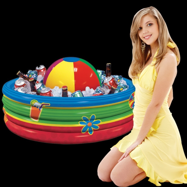 Imprinted Inflatable Beach Ball Cooler