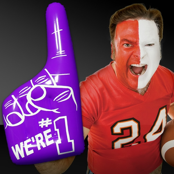 Promotional Inflatable Purple Number One Hand