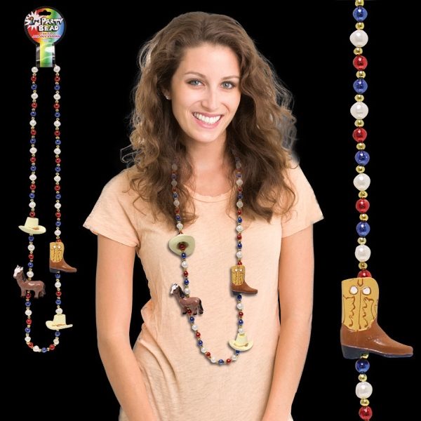 "Personalized Western 42"" Bead Necklace"