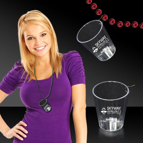 Personalized Clear Shot Glass Medallion