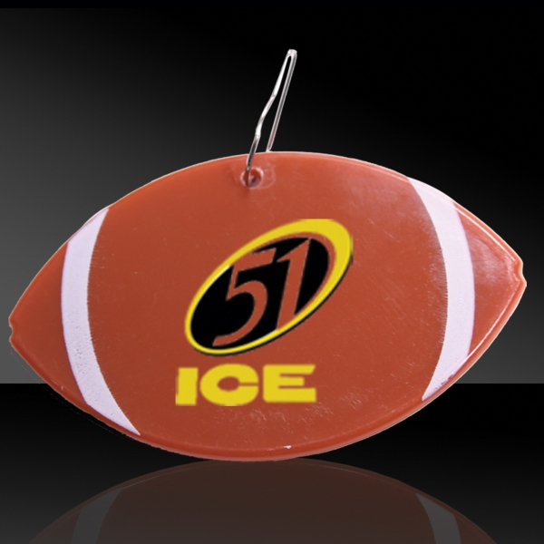 "Custom 2 1/2"" Clip On Football Medallion Badge"