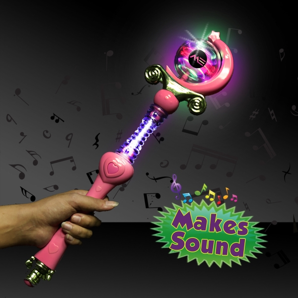 Custom LED Light Up Magic Princess Wand