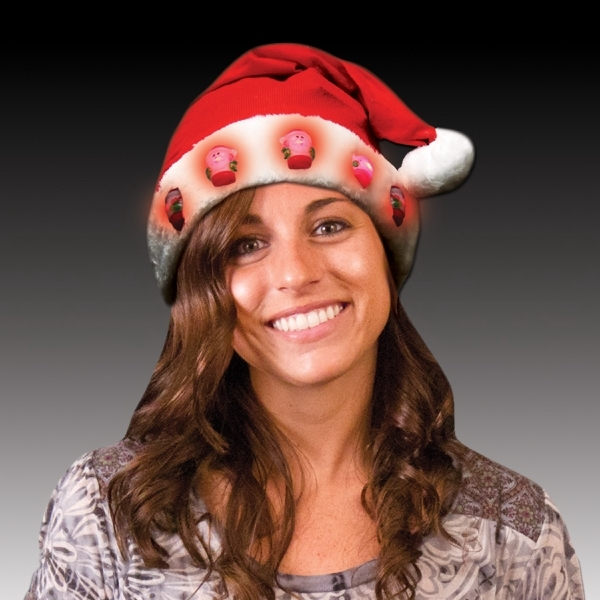 Promotional Light up LED Santa Hats