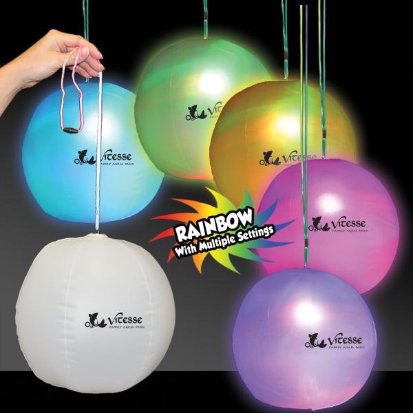 Printed Light Up LED Glow Beach Ball Decoration
