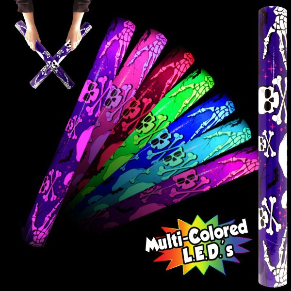 Personalized Skull 'N Cross Bones Light up Glow LED Lumiton baton wand