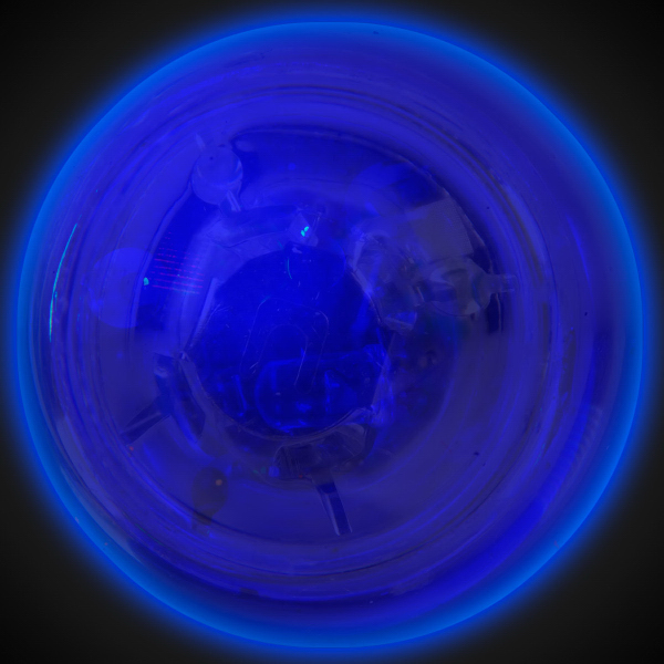 Promotional Clear Flash Ball with Bright Blue LED Glow Lights