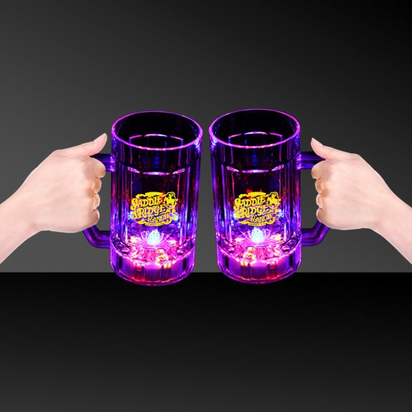Printed 14 oz Light Up LED Glow Beer Mug
