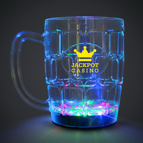 Custom 16 oz. MultiColor Flashing LED Glow Drinking Beer Stein