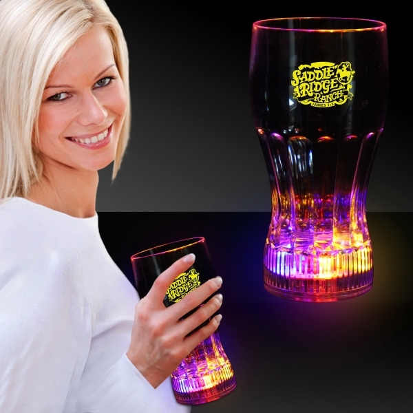 Printed 12 oz. LED Light Up Drink Glass