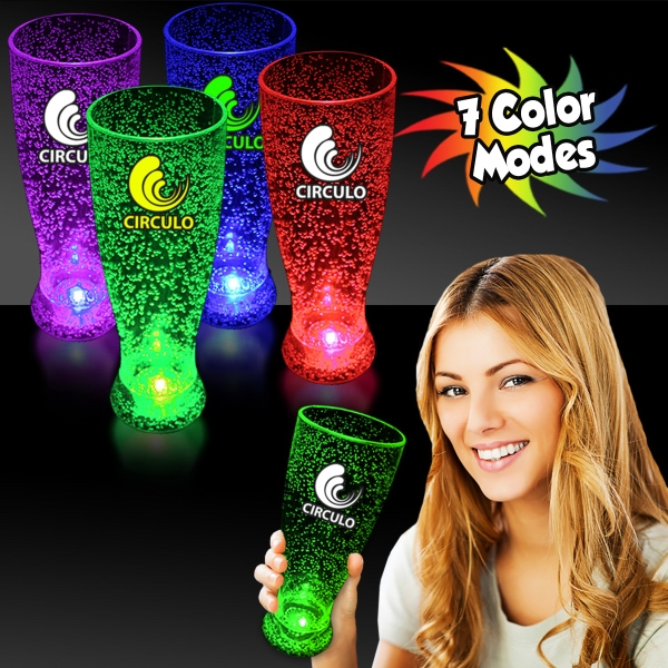 Promotional 24 oz. Multi Colored Light Up LED Pilsner