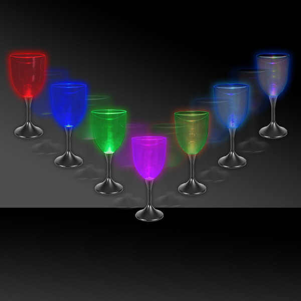 Personalized 10 oz. Lighted LED Wine Glass