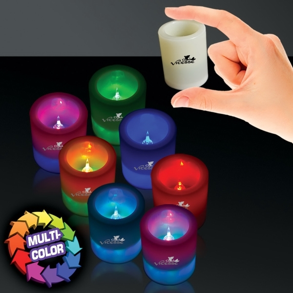 Printed LED Seven Color Votive Candle