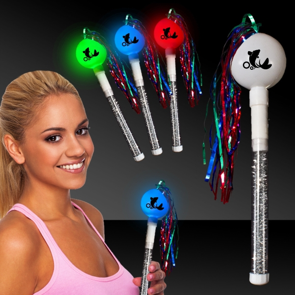 "Promotional 10"" Light-Up LED Glow Cha-Cha Maraca"